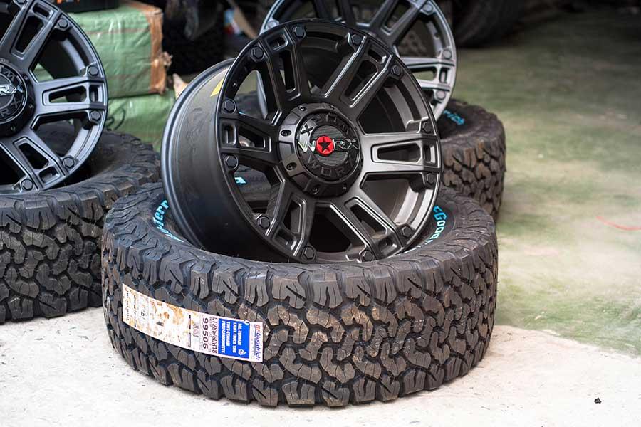 Mam lop do cho xe ban tai offroad - Độ mâm lốp xe bán tải cần lưu ý gì?