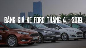 Bảng giá xe Ford tháng 4 2019